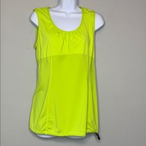 lululemon Green Yellow  Activewear Tank B4 0245